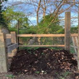 Composting at the Cottage City Garden